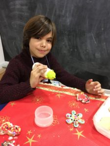 La felicidad en el taller en inglés de christmas cookies