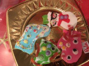 El rico resultado del taller en inglés de christmas cookies