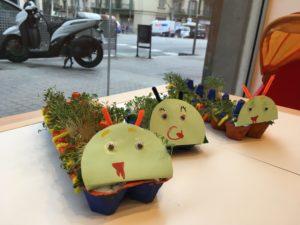 Proyectos de jardinería en los talleres en inglés de FunTalk
