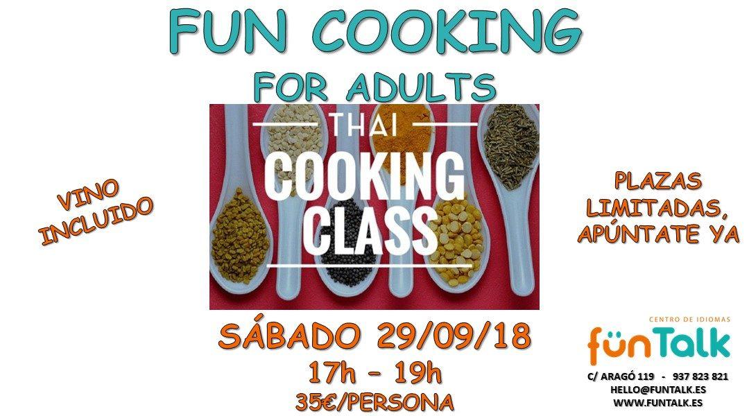 COOKING EN INGLÉS PARA ADULTOS. SEPTIEMBRE 2018. BARCELONA