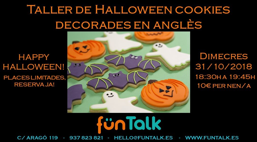 FUNTALK HALLOWEEN TALLER DE COOKIES DECORADAS